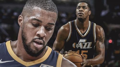 Jazz's Derrick Favors has been working on his 3-point shot