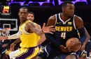 Lakers Video: Rajon Rondo Slaps Hands With Nuggets' Will Barton After Missed Free Throw