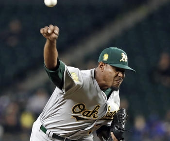 Jackson only starting pitcher on A's wild-card roster