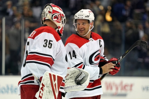 Brind'Amour, Canes Propelled by McElhinney to First Win