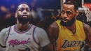 LeBron James hilariously reacts to Dwyane Wade's turnover in Heat game