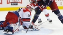 Aho, McElhinney power Hurricanes to win over Blue Jackets
