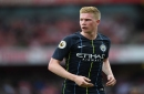 Pep Guardiola teases at Kevin De Bruyne and Benjamin Mendy returns ahead of Liverpool v Manchester City