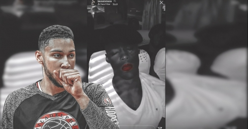 Video: Sixers' Ben Simmons trolls sleeping teammates inside the bus