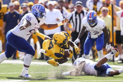 WATCH: Highlights from No. 9 West Virginia's 38-22 win over Kansas