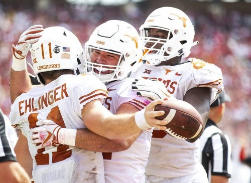 A Red River shootout once again: No. 19 Texas holds off No. 7 Oklahoma 48-45