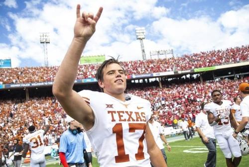 WATCH: Texas freshman Cameron Dicker kicks 40-yard field goal to beat Oklahoma