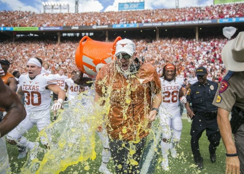 What Tom Herman said after Texas defeated Oklahoma 48-45 in the Red River Showdown
