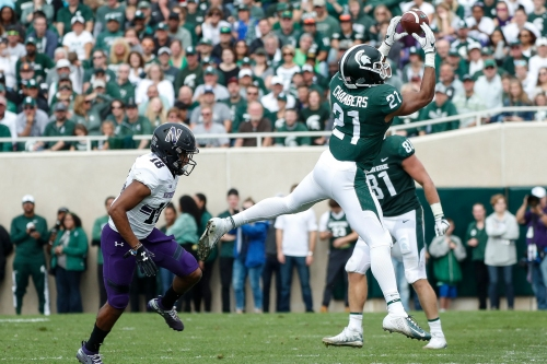 Michigan State's Cam Chambers has breakout moment as injuries mount
