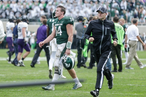 What's wrong with Michigan State quarterback Brian Lewerke?