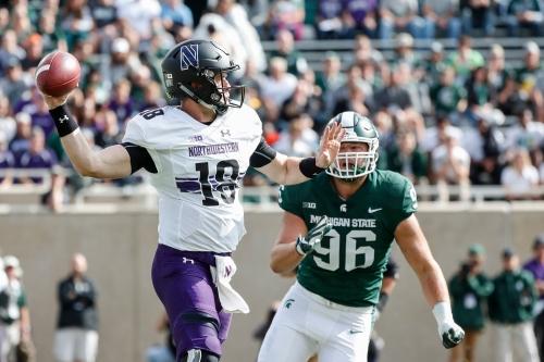 Michigan State football can't contain Northwestern QB Clayton Thorson