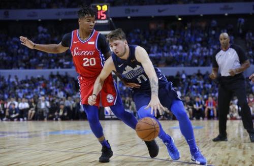Doncic scores 15, Dallas tops 76ers 115-112 at China Games