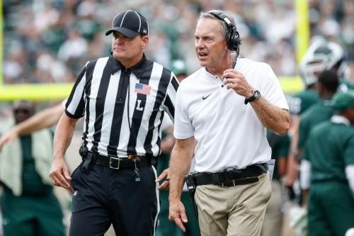 MSU football coach Mark Dantonio frustrated by loss to Northwestern