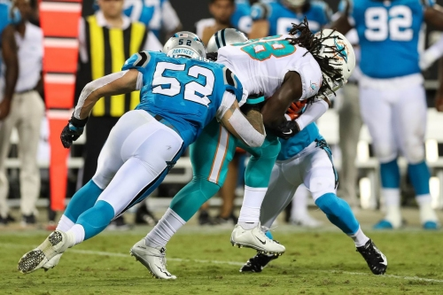 Panthers add girth to their practice squad; sign linebacker Brandon Chubb