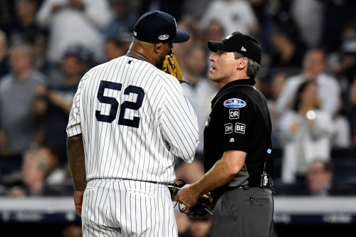 New York Yankees' CC Sabathia says ump Angel Hernandez should not be involved in playoffs
