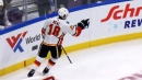 James Neal scores against Blues for first with Flames