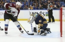 Avalanche pounces on goalie Carter Hutton, Buffalo Sabres