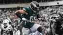 Eagles' Lane Johnson motivated by critics to gut through ankle injury
