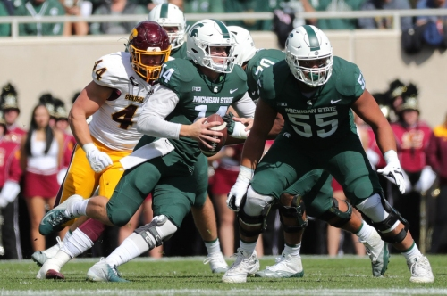 Michigan State's O-line rotation like rearranging deck chairs on Titanic