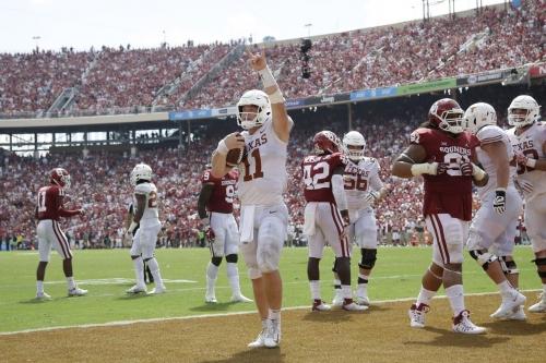 Texas QB Sam Ehlinger shines on the biggest stage against Oklahoma