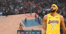 Video: JaVale McGee hits 3-pointer vs. Warriors, Lakers bench goes wild