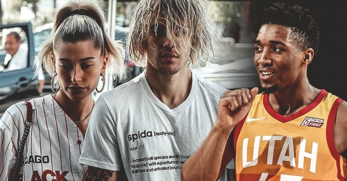 Donovan Mitchell reacts to Justin Bieber wearing his 'rookie' Adidas shirt