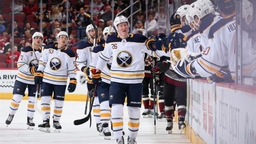 Rasmus Dahlin scores 1st career NHL goal in win over Coyotes