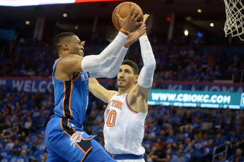 Enes Kanter says Russell Westbrook and Steven Adams were his best teammates