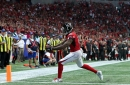 Mohamed Sanu questionable to return to Buccaneers vs. Falcons with hip injury