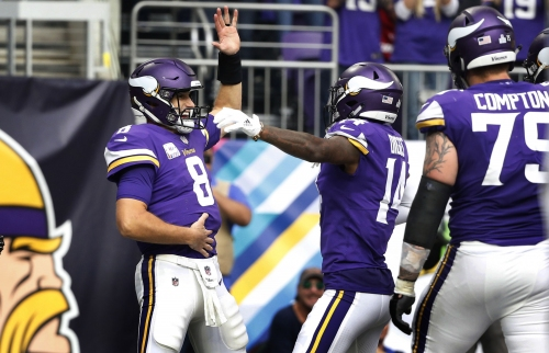 Vikings QB Kirk Cousins joins the party with 'The Dead Arm Dance'
