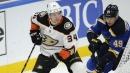 Street, Cogliano score in 3rd as Ducks beat Blues