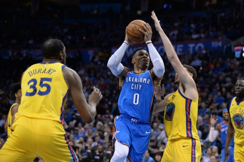 Russell Westbrook listed as out for season opener against Warriors