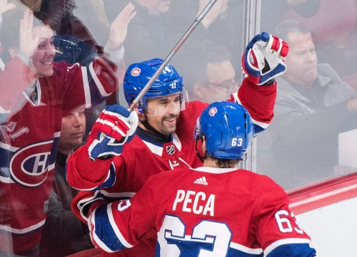 Plekanec scores in his 1,000th game as Habs beat Red Wings
