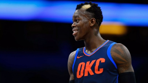 Dennis Schroder adds a dash of OKC blue on hair patch