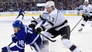 Dion Phaneuf showing Drew Doughty importance of leading by example