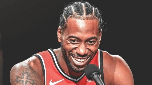 Raptors star Kawhi Leonard's laugh goes viral once again after hilarious edit