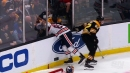 NHL Hits of the Week: Oilers' Benning smashed through glass