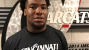 UC's Cortez Broughton reacts to the Bearcats being underdogs this week at Temple