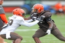 Browns elevate wide receiver Da'Mari Scott and linebacker Xavier Woodson-Luster from practice squad; waive/injured James Burgess