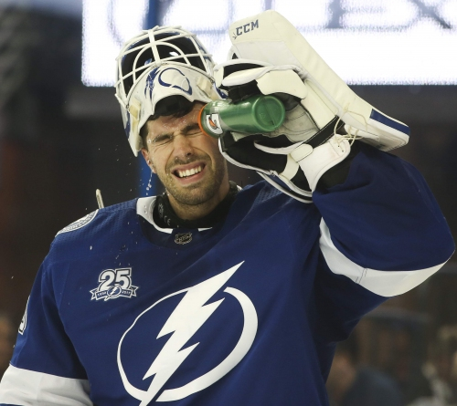 Lightning's Louis Domingue demonstrates the value of a backup goalie