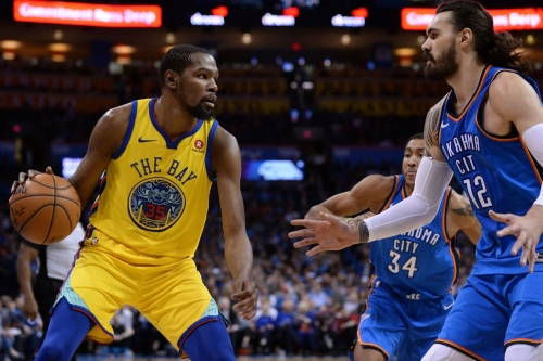 Warriors vs. Thunder: Steven Adams (back) officially cleared to play
