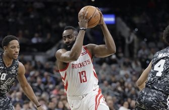 Harden leads Rockets to 1st home win, 115-103 over Pacers