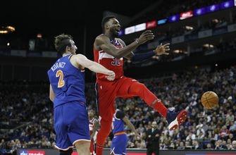 Wizards beat Knicks in London on goaltending call