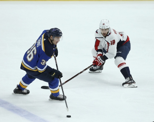 Blues game day: Schwartz back, Sanford in; Thomas and Bortuzzo out