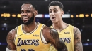 Lakers' LeBron James reacts to Kyle Kuzma's endorsement deal