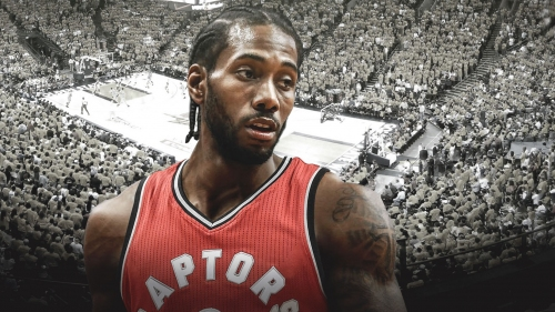 Raptors' Kawhi Leonard introduced in Toronto for first time