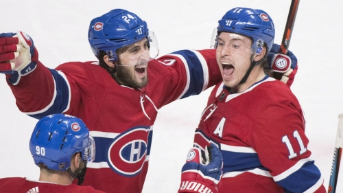 Gallagher scores late winner after turnover, Canadiens edge Blues