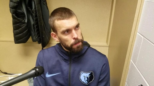 Marc Gasol reacts to Grizzlies' season-opening loss at Indiana