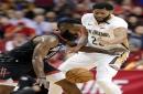 James Harden gets MVP trophy, but Anthony Davis superman as Pelicans blast Rockets