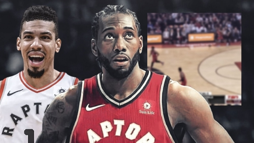 Video: Raptors fans' love for Kawhi Leonard and Danny Green is night and day